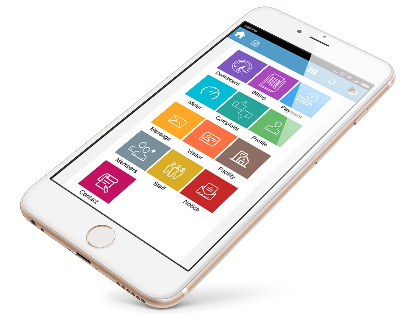 Society Manageement Home Page App